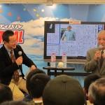 プロ野球OBの池永正明さんによるトークショーの様子