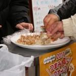 にんにくの風味が効いた中華料理店のギョーザ