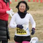 10kmマラソンで見事女性1位となったランナー