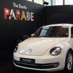 会場に登場したThe Beetleの実車(キャンディホワイト)