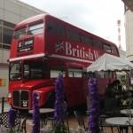 5月4日から3日間、ルミネパサージュに展示され注目を集めた2階建てのロンドンバス