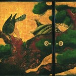 二の丸御殿大広間にあった、将軍の武勇を示す二条城の代表作「松鷹図」 <重要文化財> 二条城二の丸御殿 大広間四の間 松鷹図 京都市(元離宮二条城事務所)蔵