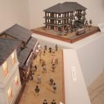 ジオラマ作家山本高樹氏による、開店当初の髙島屋の様子を復元した模型