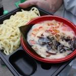 初日一番人気だった九州麺魂毘侍家「超ド級濃厚スープ風林火山つけ麺」