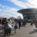天気に恵まれ、埼玉スタジアムの北広場でイベントを実施