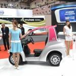 コンビニや飲料配達などの現場で活躍している、トヨタ車体の超小型EV「コムス」