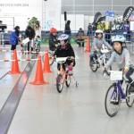 ファミリーサイクルの試乗コースの一角に、キッズサイクル専用のコーナーを用意