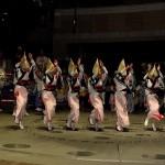 キックオフセレモニーでは、阿波おどり、韓国打楽器、ブラジルの鮮烈なリズムパレードなどが繰り広げられた。