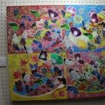 繊細な作品や抽象的な作品の展示