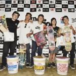 スケートボード優勝者と入賞者