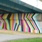 国道246号の橋脚を利用したパブリックインスタレーション「Beautiful Bridge♯2」