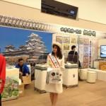 城と同じく白をイメージカラーにした姫路城のブース