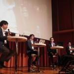 「スポーツビジネスにおけるベンチャー投資の可能性」のセッション。日本IBM、横浜DeNAベイスターズ、アシックス・ベンチャーズと実験的に投資を行ったいる企業が集まった